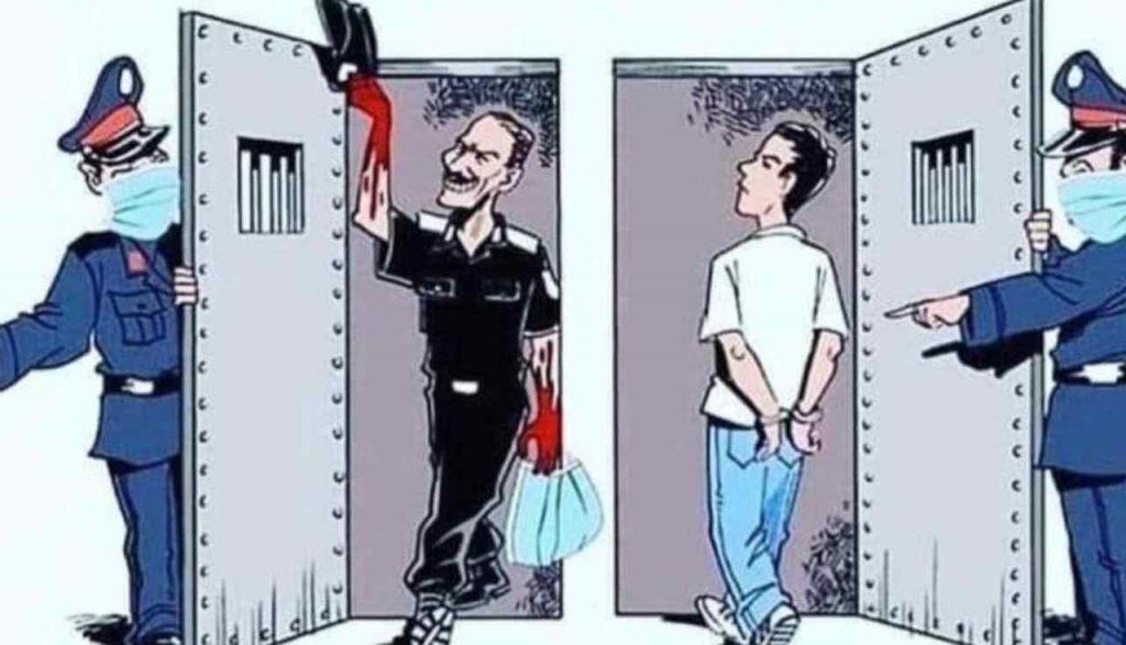 """La vignetta del runner """"incarcerato"""" e del boss scarcerato fa il giro del web"""