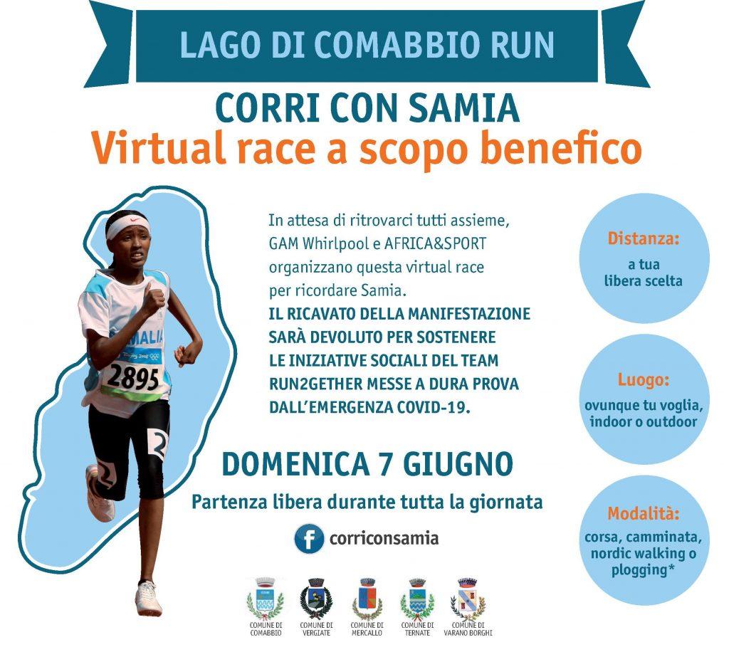 Lago di Comabbio Run - CORRI con SAMIA: virtual race a scopo benefico