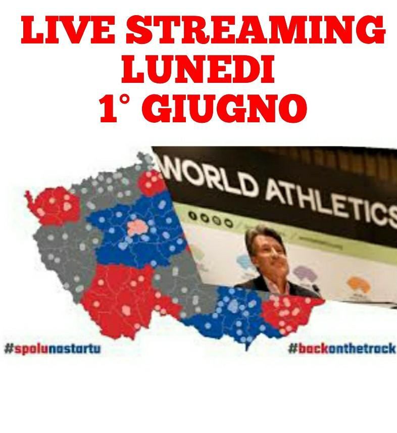 Oggi 1° giugno torna l'atletica in Live streaming su atleticanotizie