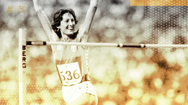 C'è Sara Simeoni nei 50 momenti d'oro dell'atletica Europea
