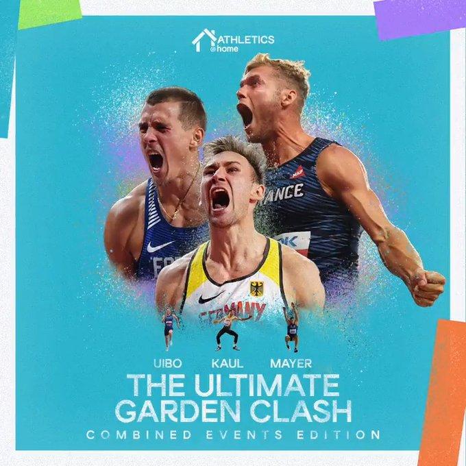 """I decatleti Mayer, Kaul e Uibo impegnati nella terza gara virtuale """"World Athletics Ultimate Garden Clash combined events""""-IL LIVE STREAMING"""