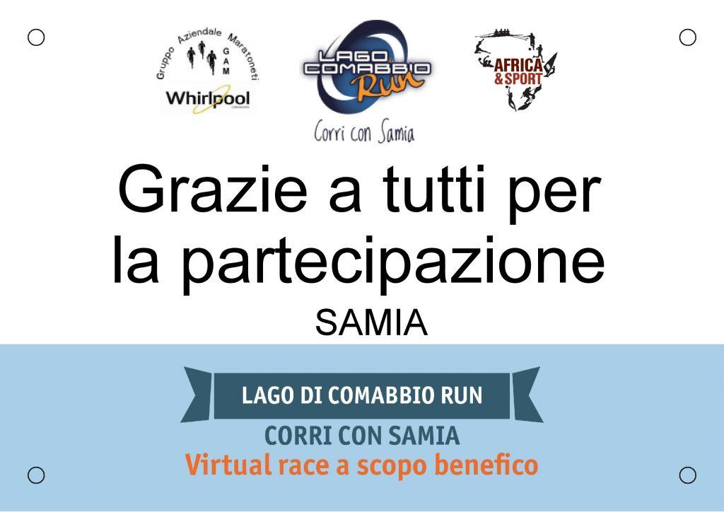 Lago di Comabbio Run - CORRI CON SAMIA 2020: corsa virtuale, solidarietà reale!