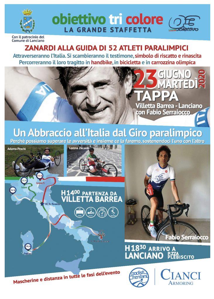 Paraciclismo -- Il viaggio di Obiettivo Tricolore continua per Alex Zanardi: tra Villetta Barrea e Lanciano la staffetta paralimpica in Abruzzo
