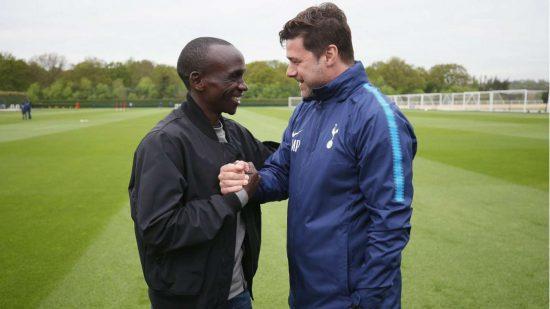Eliud  Kipchoge parteciperà alla staffetta della maratona virtuale organizzata dal Tottenham Hotspur
