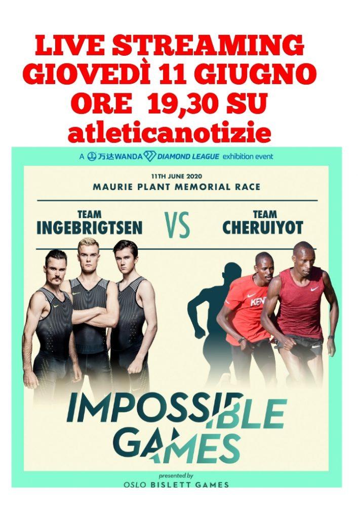 """Stasera Il live  streaming da Oslo dei """"Bislett Impossible Games"""" -Diamond League-"""