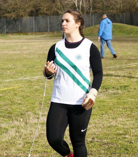 Rachele Mori lancia unai bordata di 68,12 nel Martello a Siena