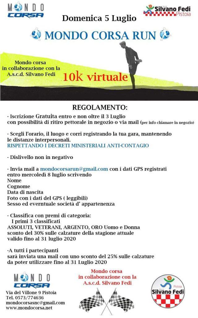 DOMENICA 5 LUGLIO MONDO CORSA RUN (VIRTUALE)