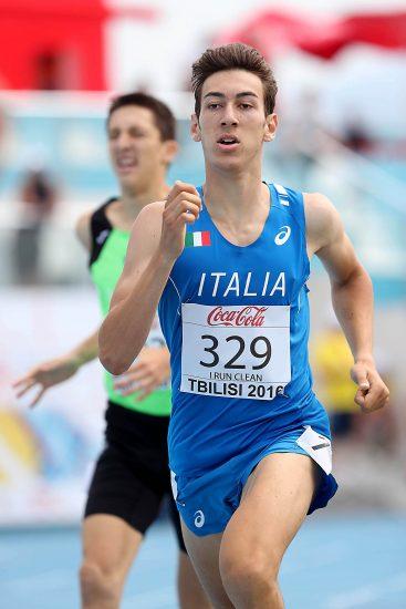 Simone Barontini vicinissimo al PB negli 800 metri di Ancona