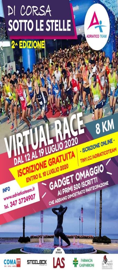 """Di Corsa Sotto le Stelle: seconda edizione nella versione """"Virtual Race"""""""