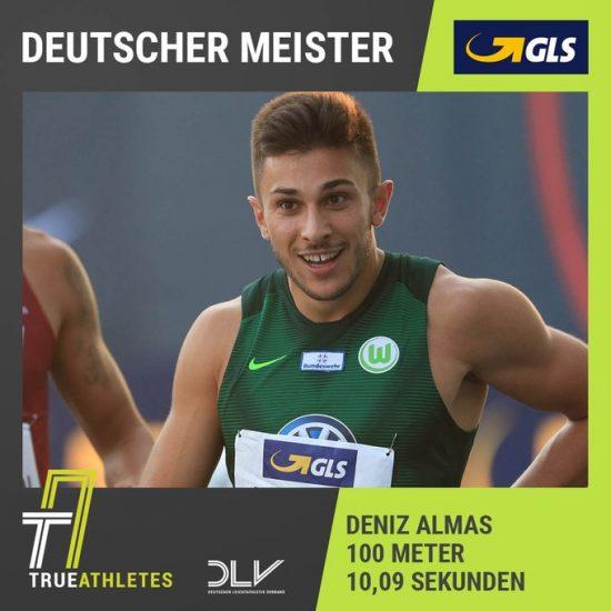 Gran 10'09 nei 100 metri per Deniz Almas nei campionati nazionali tedeschi