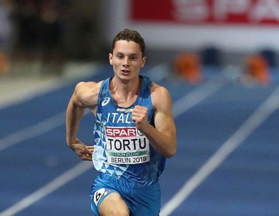 Filippo Tortu in pista a ferragosto a  Chaux-de-Fonds in Svizzera