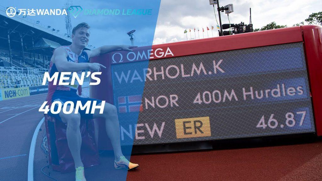 Il video di Karsten Warholm che lambisce il record mondiale dei 400 metri correndo in  46.87