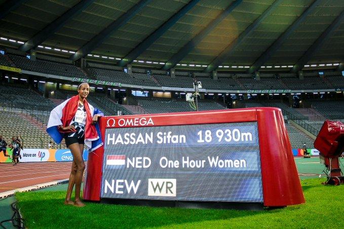 Record del mondo dell' ora di Sifan Hassan al Memorial Van Damme
