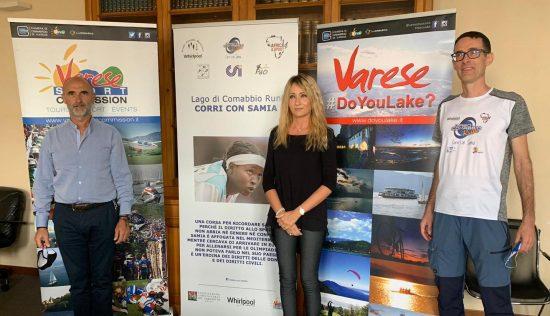 Foto_conferenza stampa_Luciano Rech (GAM Whirlpool)_Sabrina Guglielmetti (Varese Sport Commission)_Marco Rampi (AFRICA&SPORT)