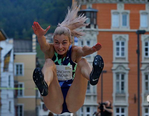 Miglior prestazione mondiale nel salto in lungo di Nastassia Mironchyk-Ivanova a Innsbruck