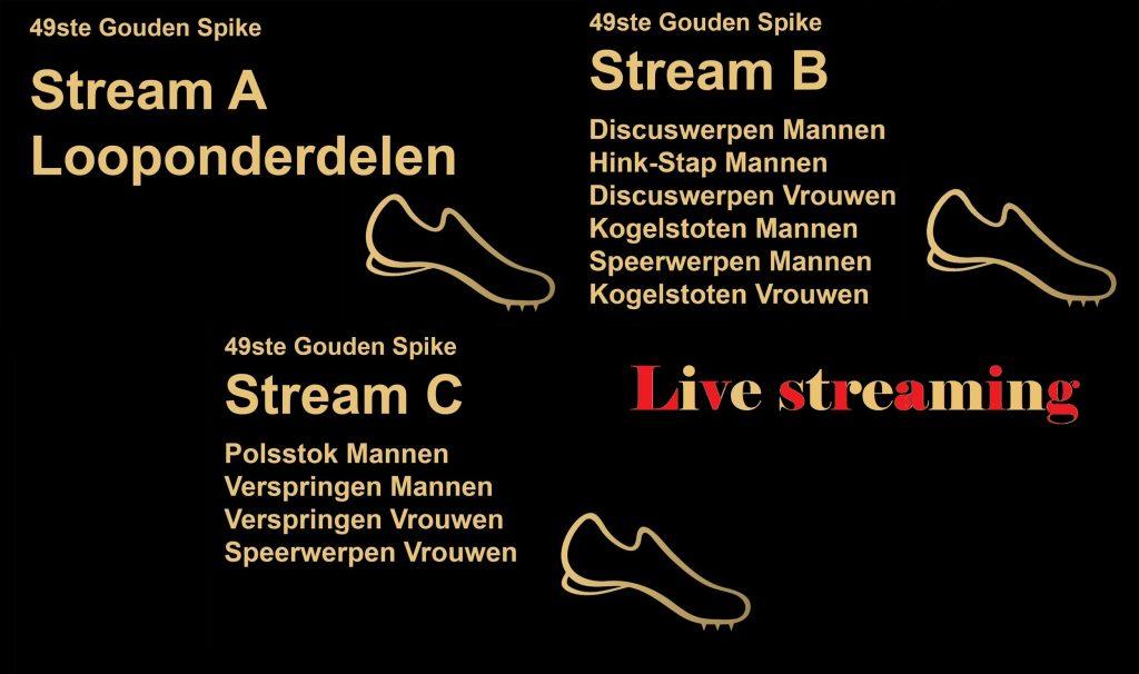 Tre canali live streaming dedicati ( corse, salti e lanci) oggi per il Meeting Gouden Spike