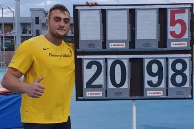Carmelo Musci sul tetto del Mondo nel peso  Under 20