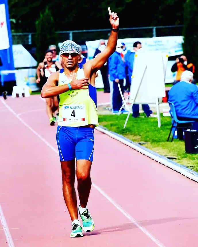 Arezzo: Campionato Italiano Master  Tricolore per l'atleta di Frignano Vincenzo Magliulo nella 5Km di Marcia.