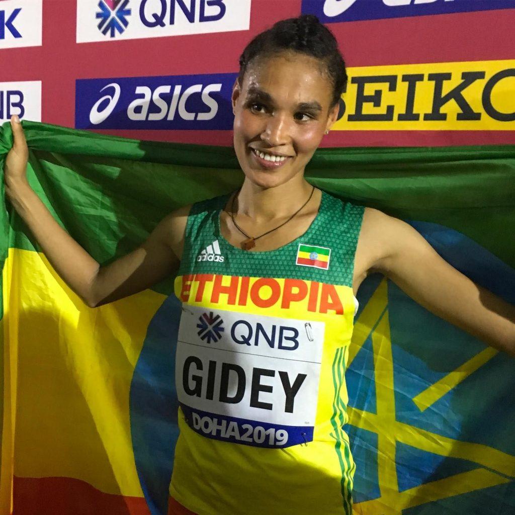 Strepitoso record del mondo di  Letesenbet Gidey nei 5000 metri