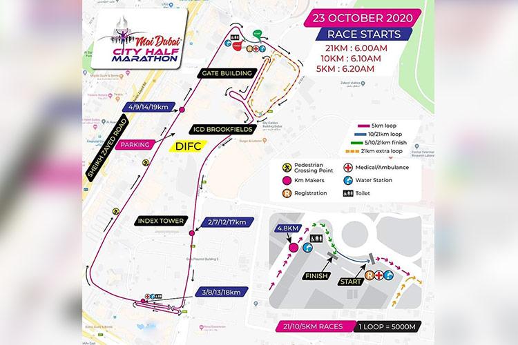 Oltre 400 corridori prenderanno parte alla Mai Dubai City Half Marathon