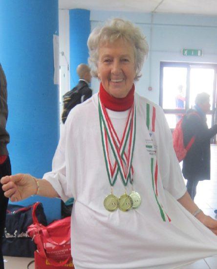 Nives Fozzer, 90 anni e 6 titoli italiani in una settimana per l'atleta master della NAF
