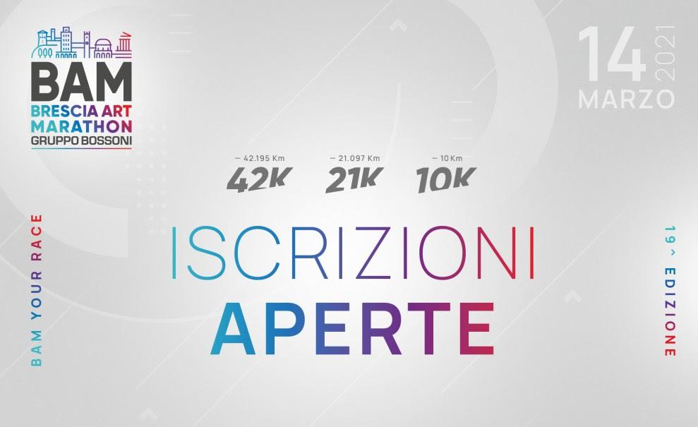 Brescia Art Marathon apre le iscrizioni. Si corre il 14 marzo 2021