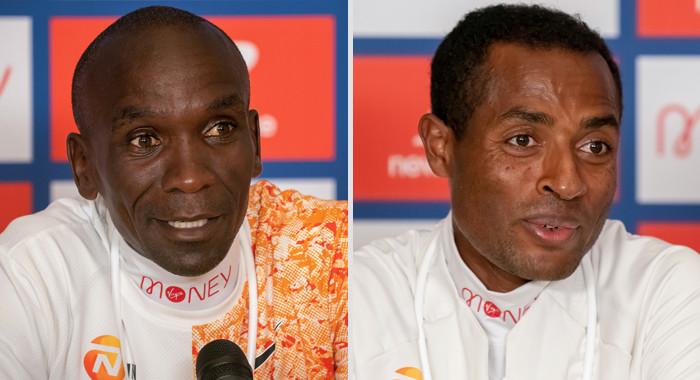 Maratona di Londra: la conferenza stampa di Eliud Kipchoge e Kenenisa Bekele