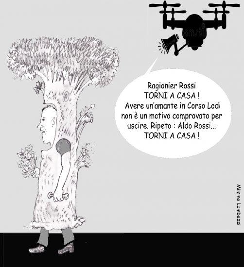drone. e finto albero
