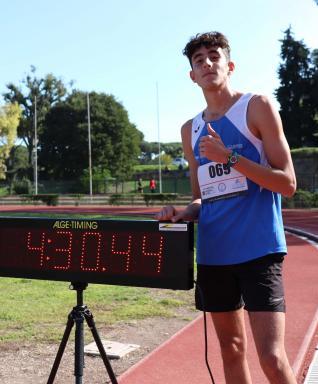 Miglior prestazione italiana U16 per Davide De Rosa nel miglio a Caracalla