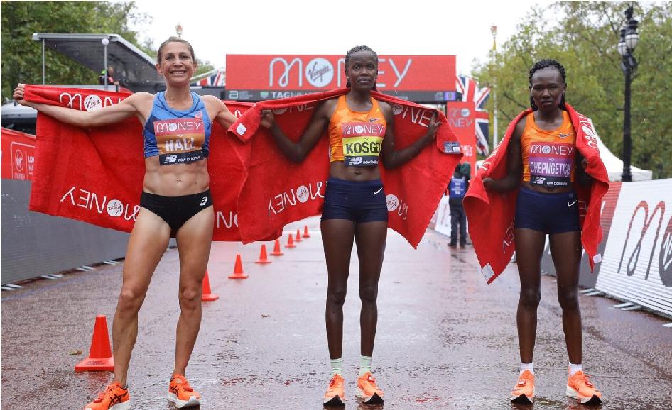 Brigid Kosgei vince e mantiene il titolo della maratona di Londra