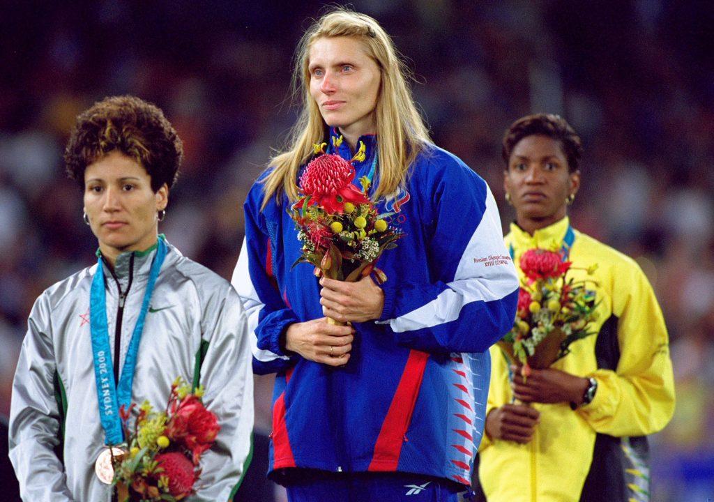 Irina Privalova, quattro volte medaglia olimpica, nominata per la presidenza della federazione Russa di atletica