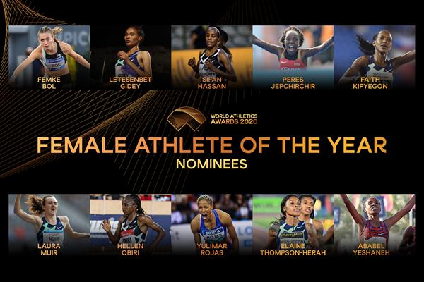 """""""Atleta mondiale femminile dell'anno"""" 2020: ecco le 10 candidate"""