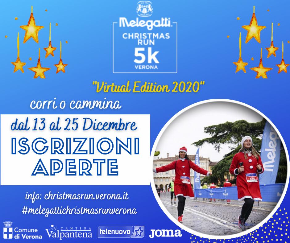 Melegatti Christmas Run Verona 2020: aperte le iscrizioni