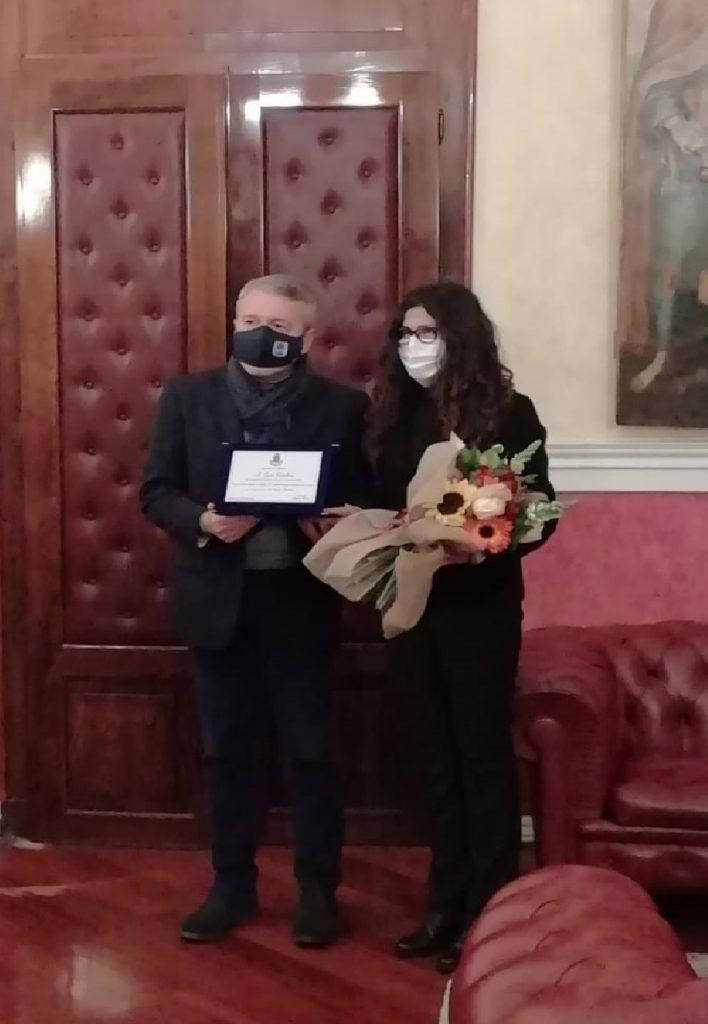 Consegnata onorificenza all'Atleta Giusi Parolino dal sindaco di Agrigento Francesco Miccichè