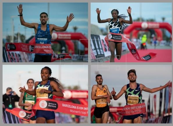 Genzebe Dibaba e Jemmy Gressier nella 5Km ed Hellen Obiri e Mohamed Amdouni nella 10K vincono la Cursa dels Nassos a Barcellona