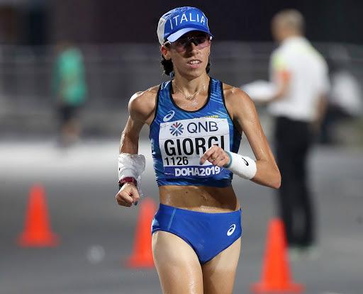Eleonora Giorgi vince il titolo italiano dei 35 Km. di marcia