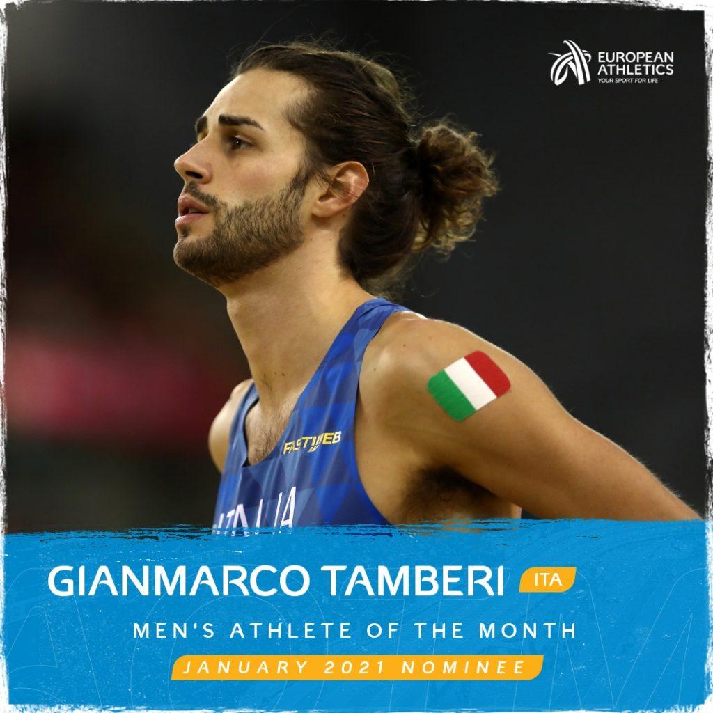 Gianmarco Tamberi candidato al titolo di miglior atleta europeo del mese