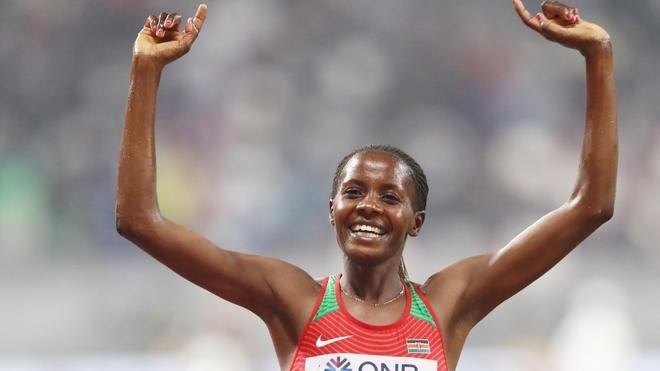 Record mondiale (misto) sui 5 km per Beatrice Chepkoech a Monaco, niente record per Cheptegei