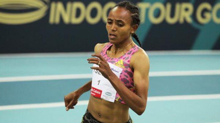 Un'ispirata Gudaf Tsegay corre la 2^ prestazione mondiale indoor nei 3000 metri a Madrid