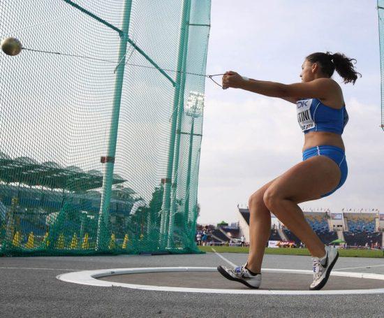 Sara Fantini sfiora i 70 metri nel martello ai Campionati italiani invernali di lanci di Molfetta