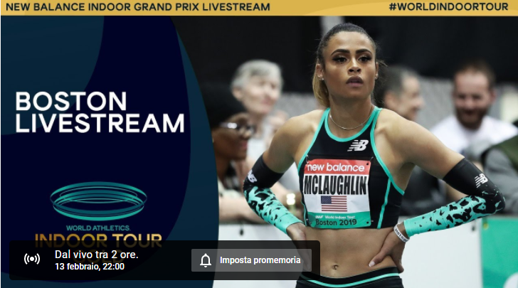 Lyles, McLaughlin e Bromell IN DIRETTA STREAMING stasera dal New Balance Indoor Grand Prix