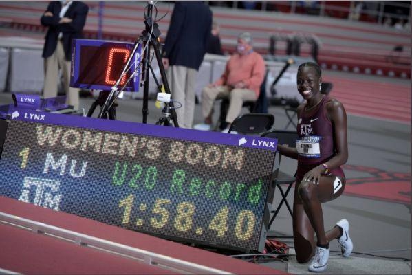 Athing Mu distrugge il record mondiale U20 Indoor degli 800 metri