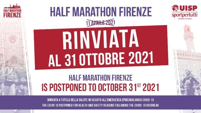 Ancora un rinvio, è toccato alla Half Marathon Firenze dell' 11 Aprile
