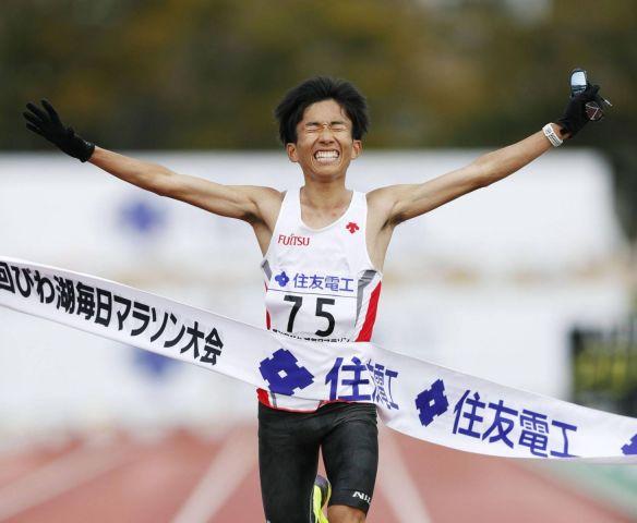 Record giapponese  di Suzuki: 2:04:56 nella Lake Biwa Mainichi Marathon