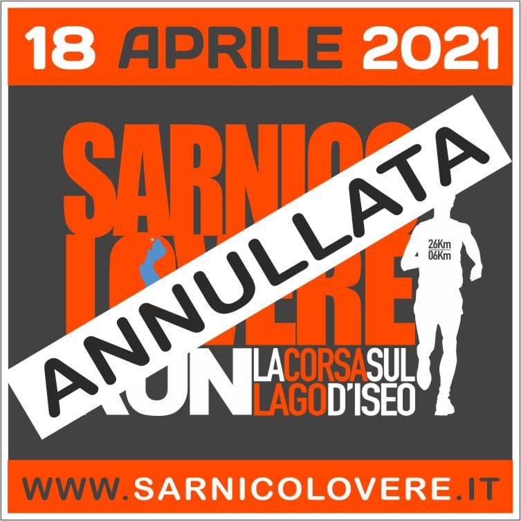 SARNICO LOVERE RUN rinviata al 2022
