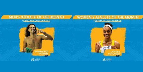 Tamberi e Iapichino eletti atleti europei del mese di febbraio