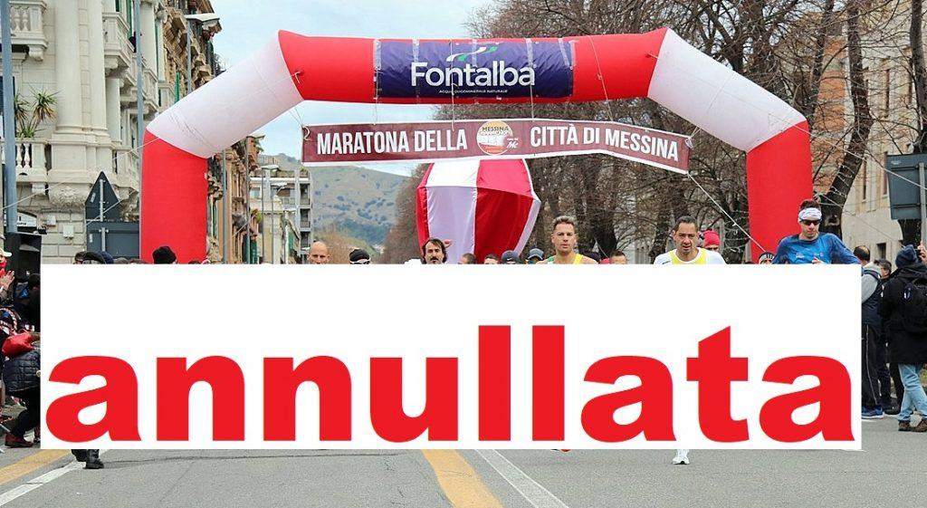 """Annullata anche la """"Fontalba Marathon Messina"""" edizione 2021"""