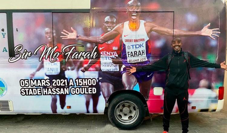 Mo Farah esordisce venerdì 5 marzo nella mezza maratona internazionale di Gibuti