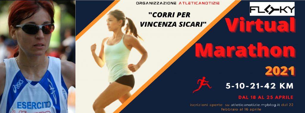 CARTOLINA – Vincenza Sicari  Ex maratoneta, orgoglio italiano (Lodi, 19 marzo 1979) è un'ex mezzofondista e maratoneta italiana- di Giuseppe Sacco