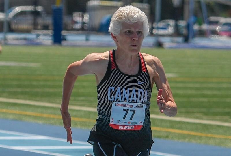 Karla Del Grande, 67 anni, è stata nominata atleta femminile del decennio da World Masters Athletics